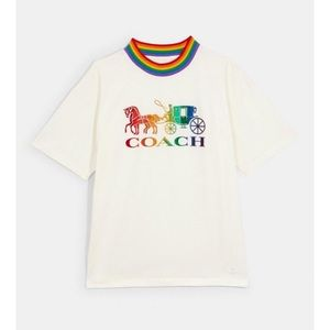 Coach rainbow neck pride t-shirt